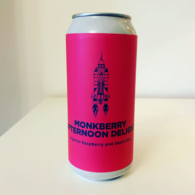 NEW Pomona Island 'Monkberry Afternoon Delight' Imperial Raspberry and Sabro Sour 440ml - 10%