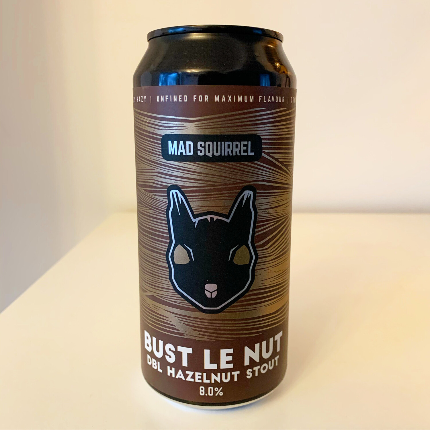 NEW Mad Squirrel 'Bust Le Nut' Double Hazelnut Stout 440ml - 8%