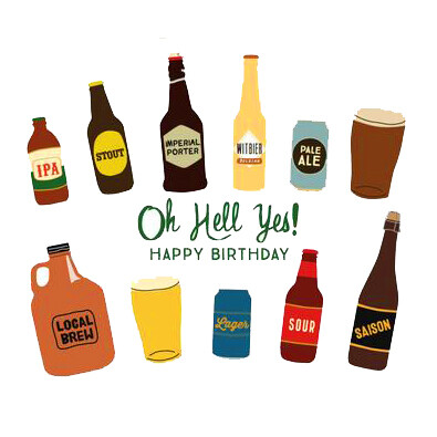NEW 6 x Craft Beer Birthday Mixed Pack inc. personalised message!