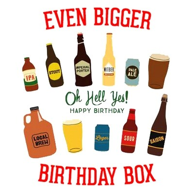 NEW EVEN BIGGER 10 x Craft Beer Birthday Mixed Pack inc. personalised message!