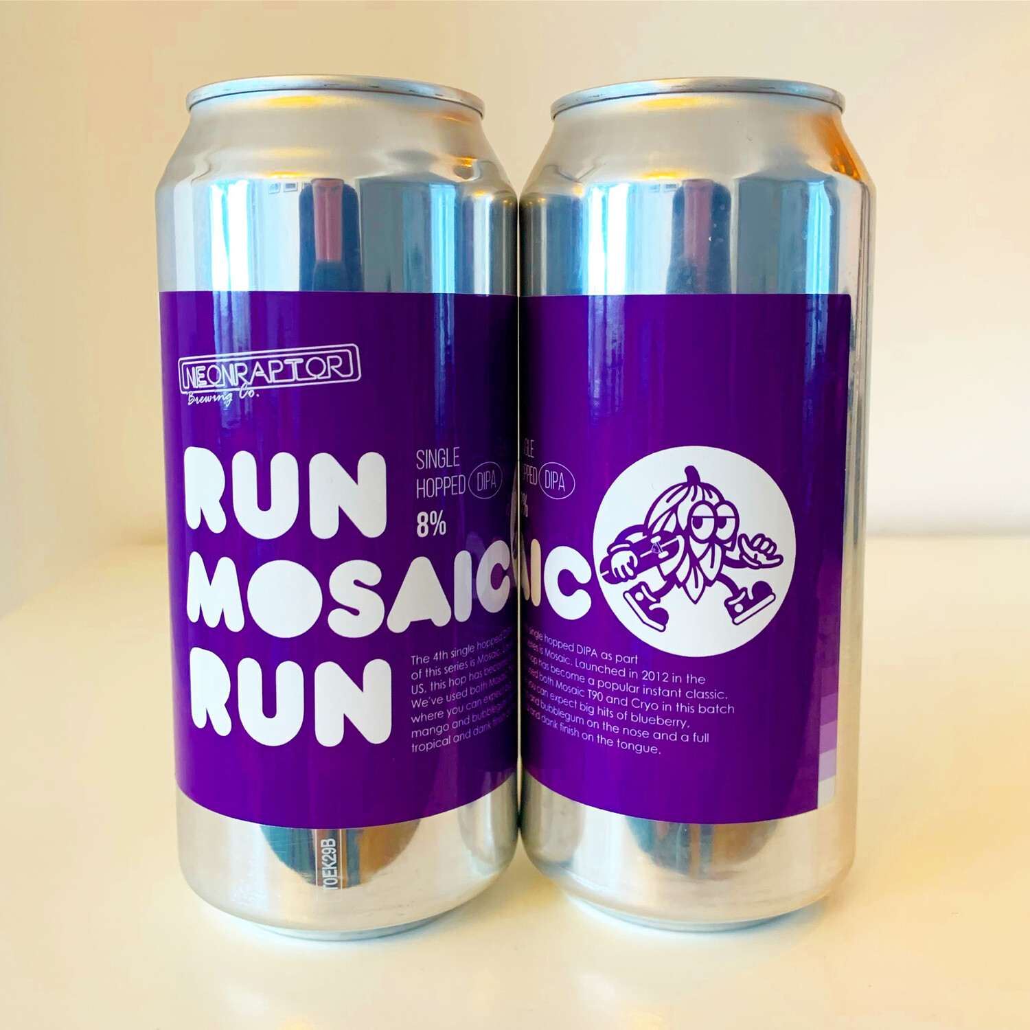 NEW Neon Raptor 'Run Mosaic Run' DIPA 440ml - 8%