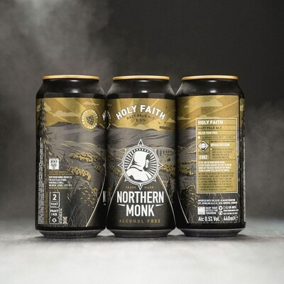 NEW Northern Monk 'Holy Faith' Alcohol Free Hazy Pale 440ml - 0.5%