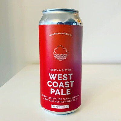 NEW Cloudwater West Coast Pale 440ml - 4%
