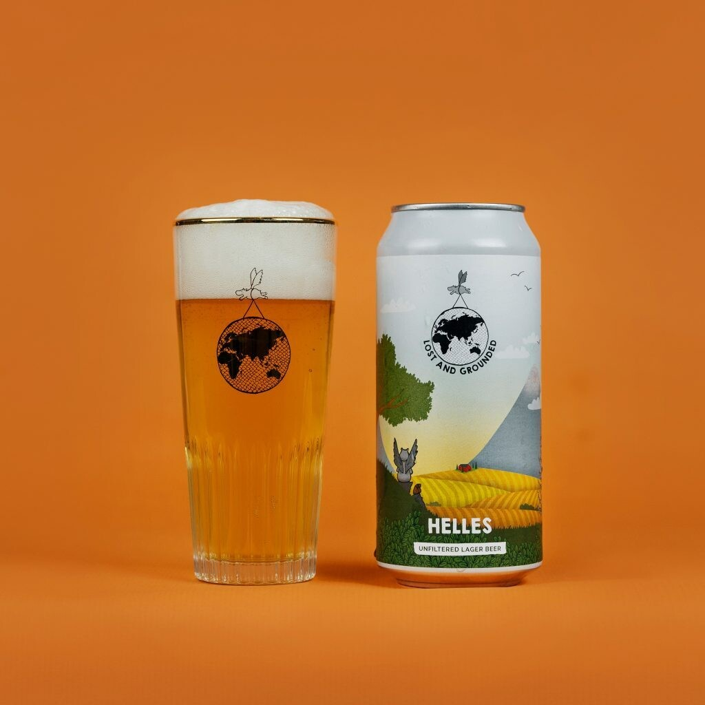NEW Lost & Grounded Helles Unfiltered Lager 440ml - 4.4%