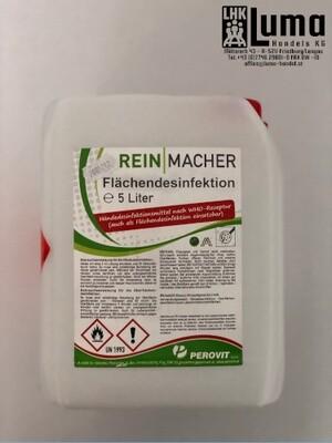 Flächen Desinfektionsmittel WHO Standard auf Ethanolbasis