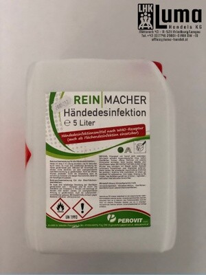 Hände-Desinfektionsmittel WHO Classic 5 Liter Kanister