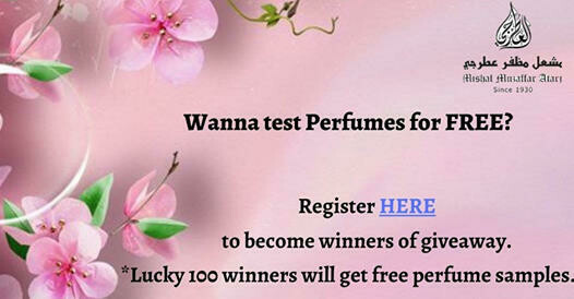 Wanna test perfumes for free?