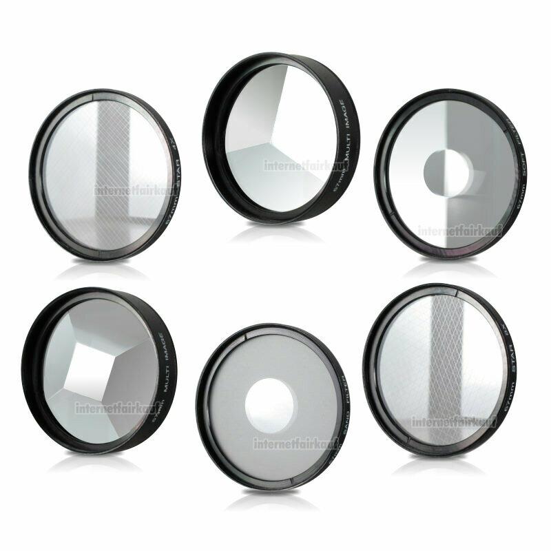 43mm 6-fach Set Spezial Effekt Filter Effektfilter Effektlinsen