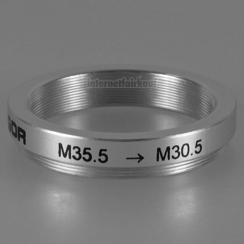 35.5-30.5mm Adapterring Filteradapter silber