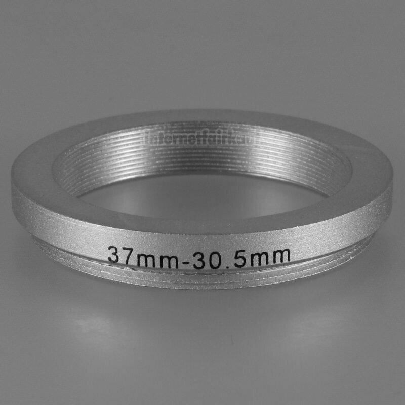 37-30.5mm Adapterring Filteradapter silber
