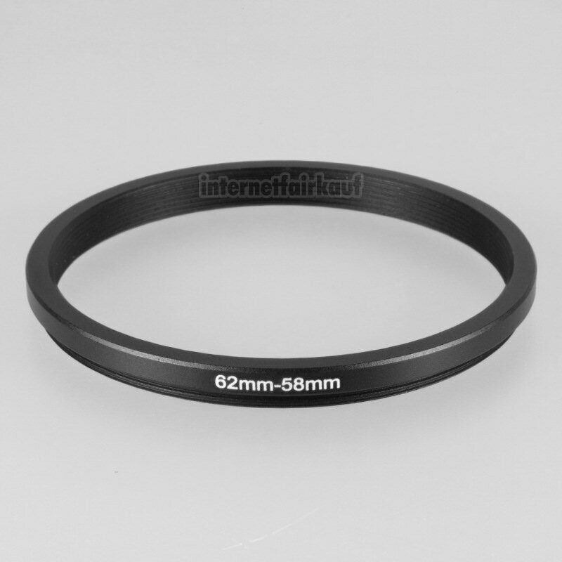 62-58mm Adapterring Filteradapter
