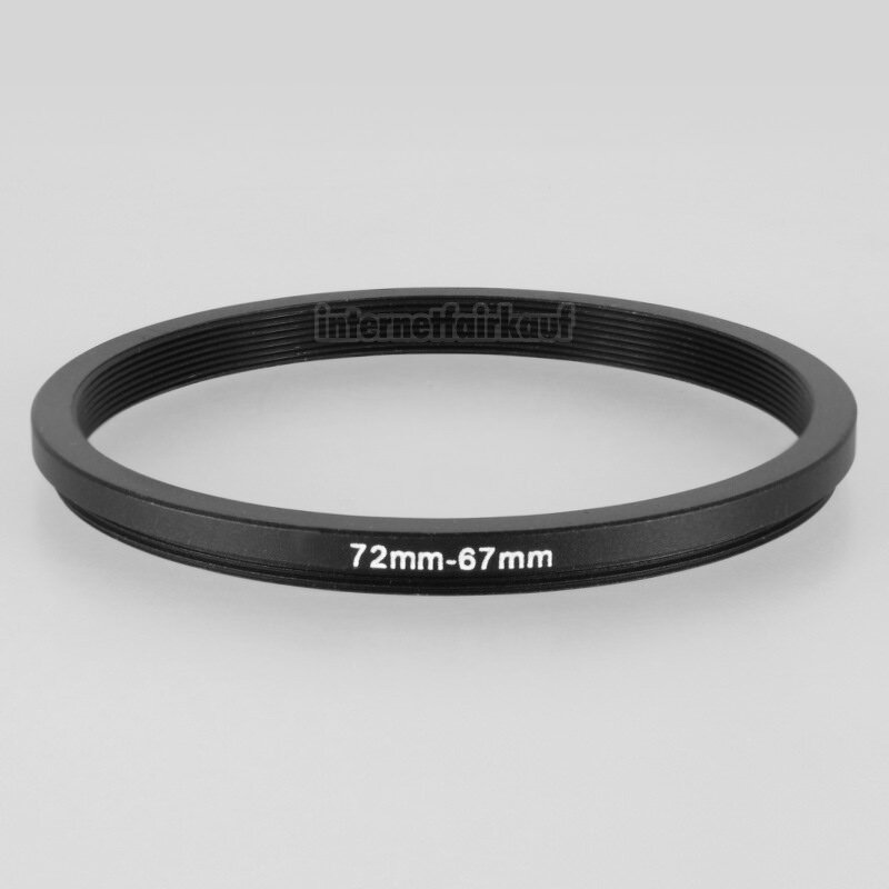 72-67mm Adapterring Filteradapter