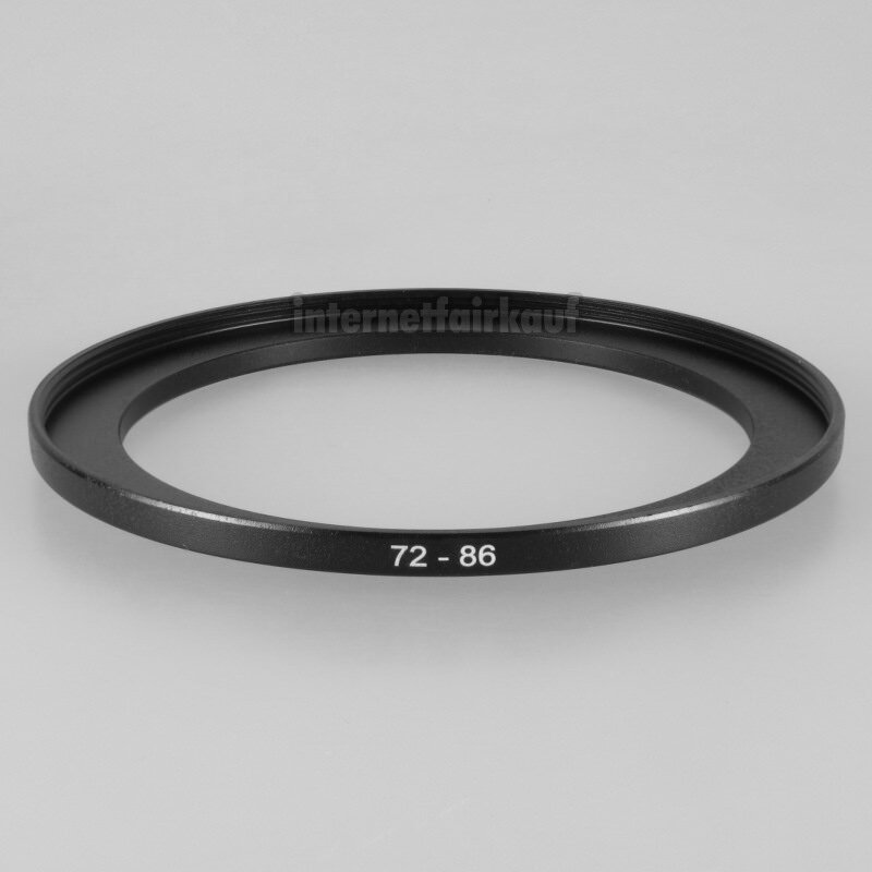 72-86mm Adapterring Filteradapter