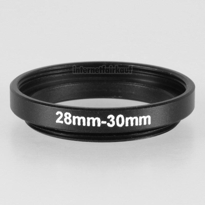 28-30mm Adapterring Filteradapter schwarz