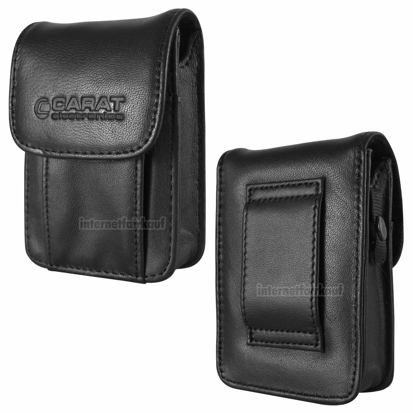 Gürteltasche Kameratasche passend für Canon IXUS 130 105  - Leder Etui