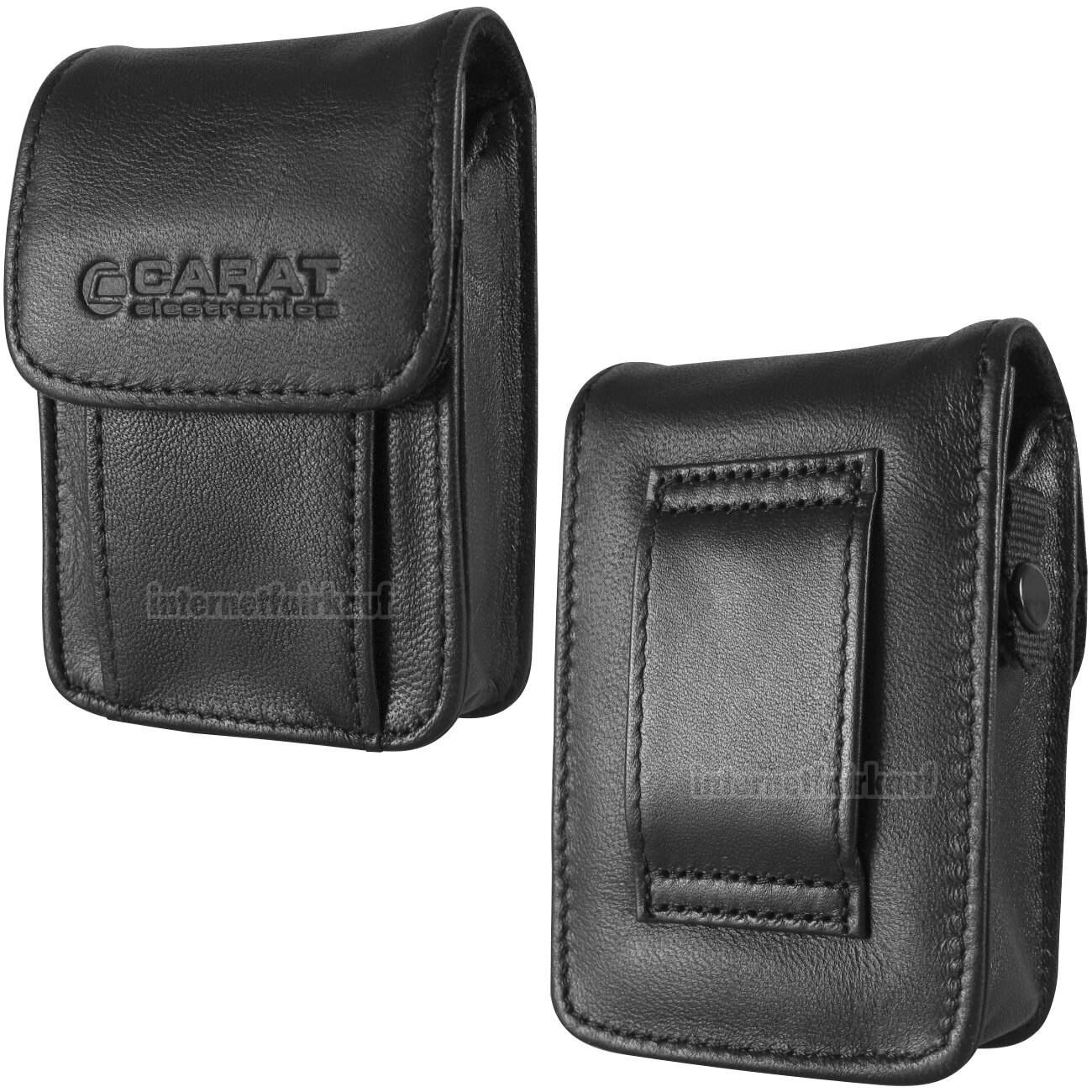 Gürteltasche Kameratasche passend für Medion Life P44001 (MD86600) - Leder Etui