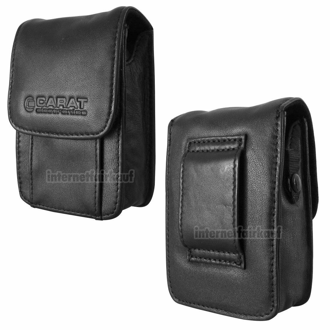 Gürteltasche Kameratasche passend für Canon PowerShot D30 Leder Etui Fototasche