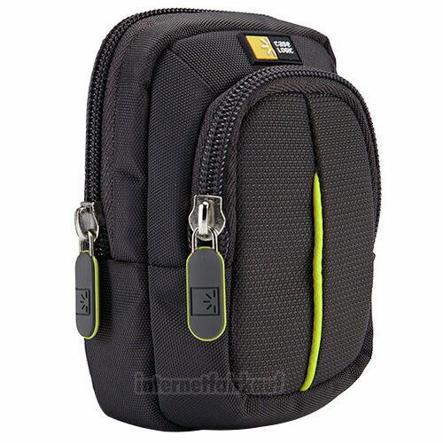 Kameratasche Fototasche anthrazit passend für Canon Powershot SX200 IS S90