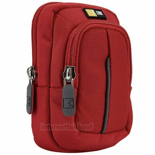 Kameratasche Fototasche rot passend für Panasonic DMC-TZ56