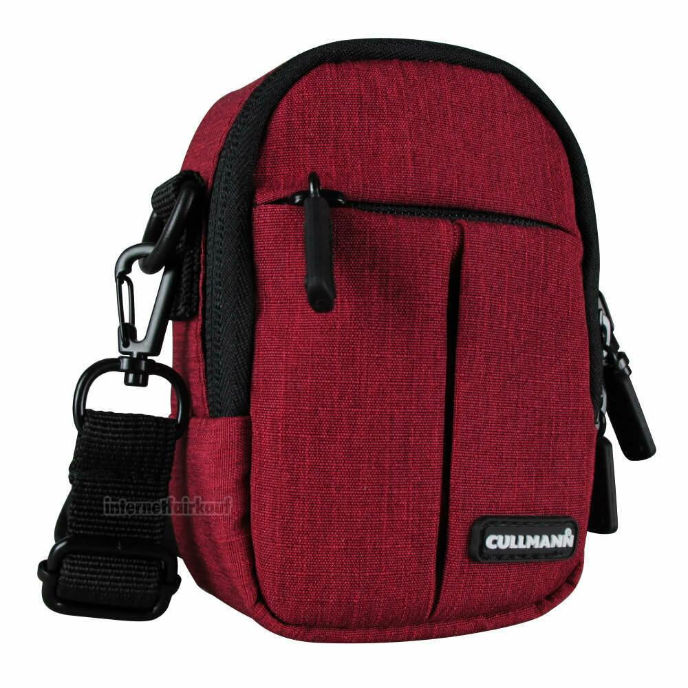 Gürteltasche Schultertasche rot passend für Panasonic Lumix DMC-LX15