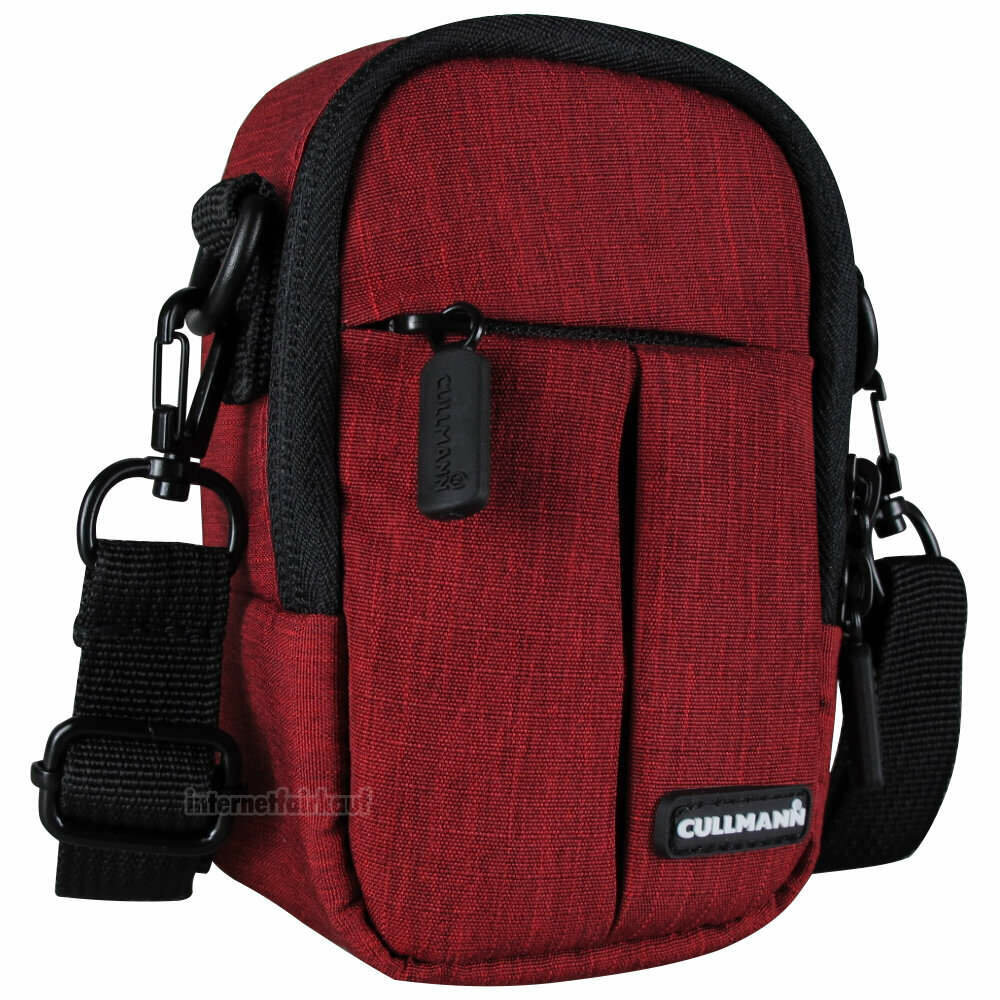 Kameratasche rot passend für Panasonic Lumix DMC-TZ202 TZ101 TZ96 - Foto-Tasche