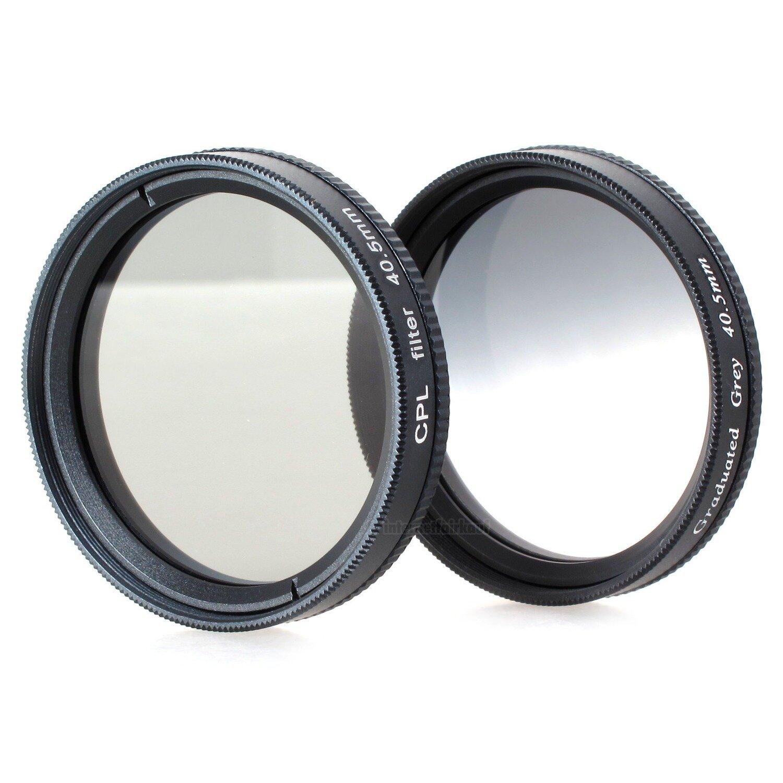 POL + Grauverlaufsfilter passend für Sony Alpha A5000 A5100 A6000 und 16-50mm Objektiv
