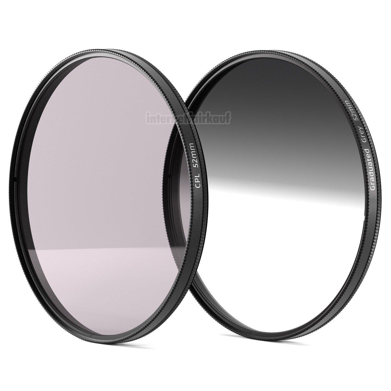 POL + Grauverlaufs-Filter passend für Nikon D5500 D5200 D5100 und AF-S 18-55 Obj
