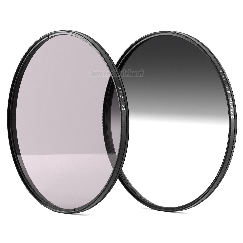 Set POL-Filter + Grauverlaufsfilter passend für Nikon D3200 und 18-105mm Obj.