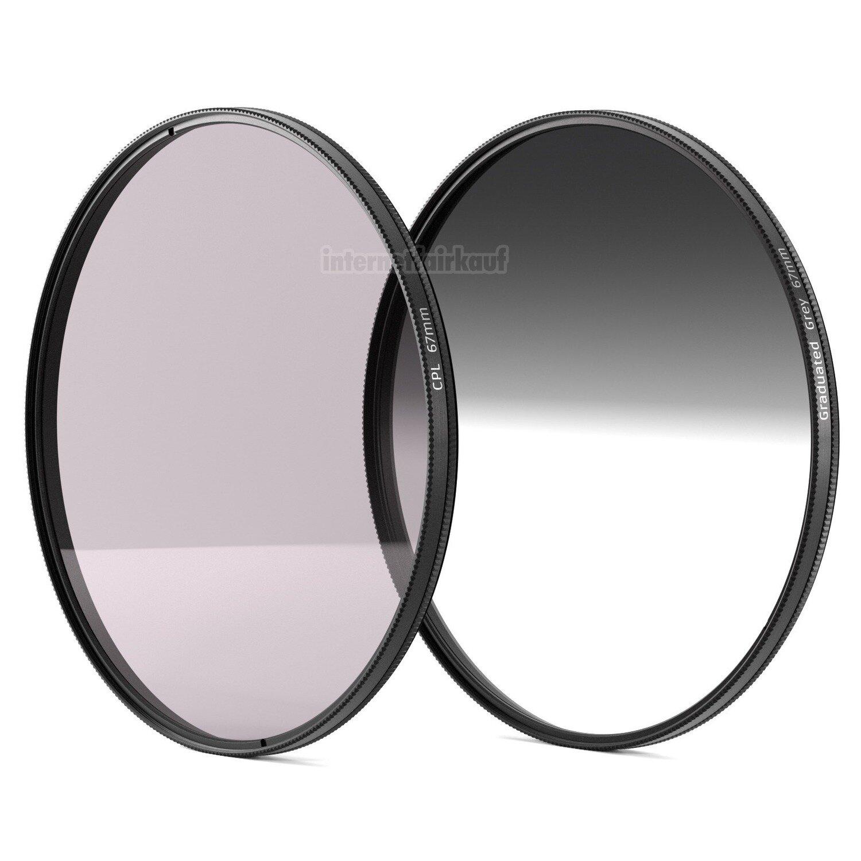 Set POL-Filter + Grauverlaufsfilter passend für Nikon D5600 mit 18-140mm Obj.