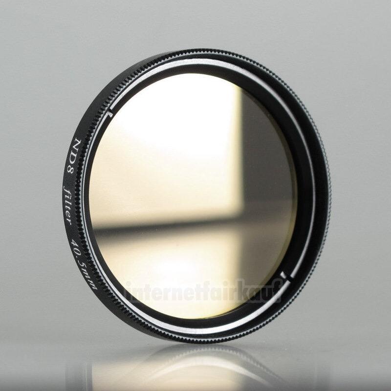 ND8 Neutral Density Graufilter passend für Nikon 1 S1 und 11-27,5mm Objektiv