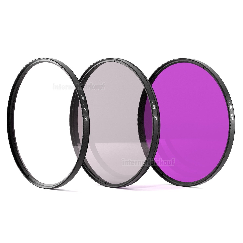UV + POL + FLD Filter Set passend für Canon EOS M10 M100 mit 15-45mm Objektiv