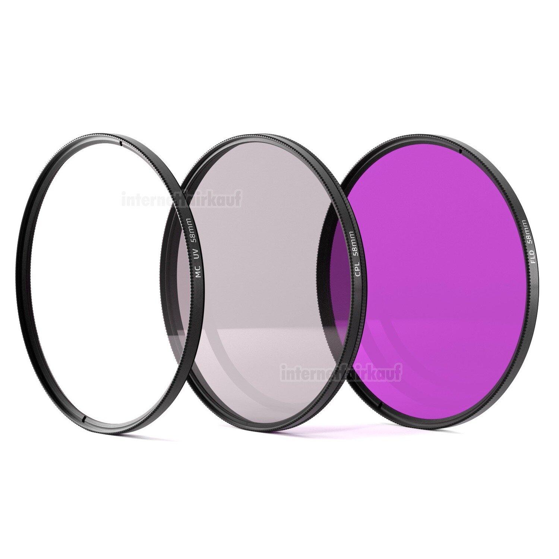UV POL FD Filter passend für Canon EOS 4000D 2000D 800D 200D und 18-55 Obj.