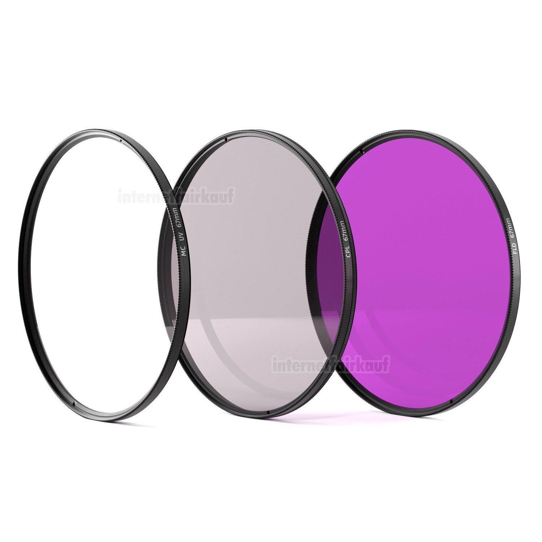 UV + POL-Filter + FD FLD Set passend für Nikon D5300 und 18-105mm Obj.