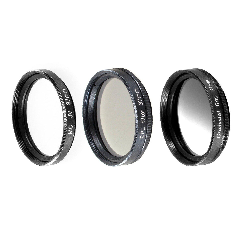 UV POL Grauverlaufs-Filter passend für Panasonic Lumix GX80 mit 12-32mm Objektiv