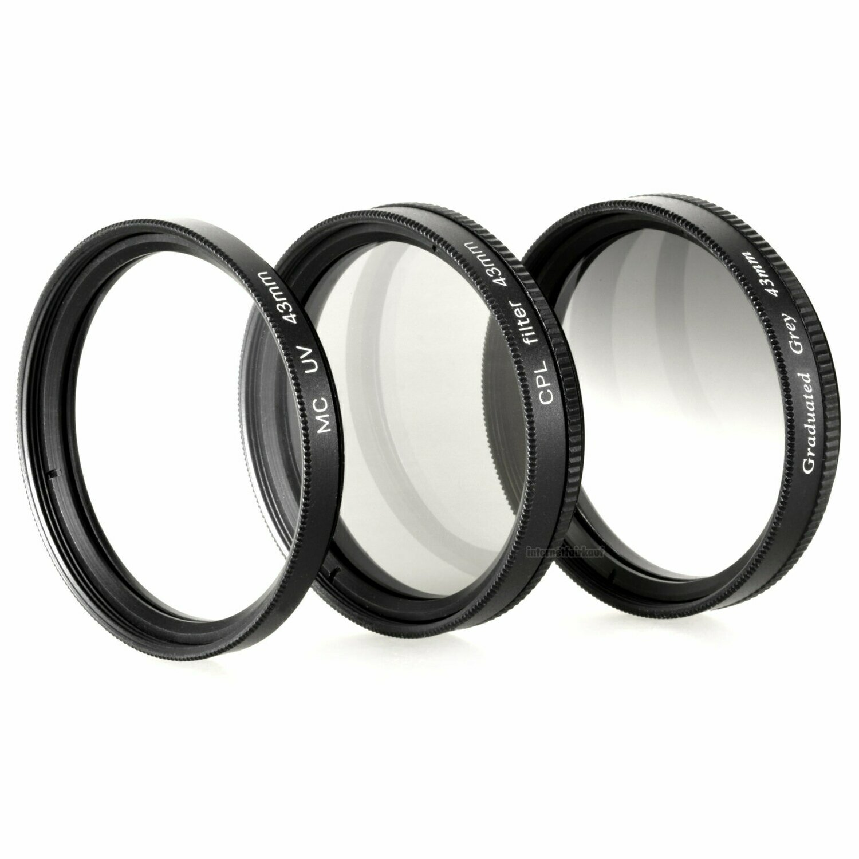 Set UV + POL-Filter + Grauverlaufsfilter passend für Canon Legria HF R87 HF R86
