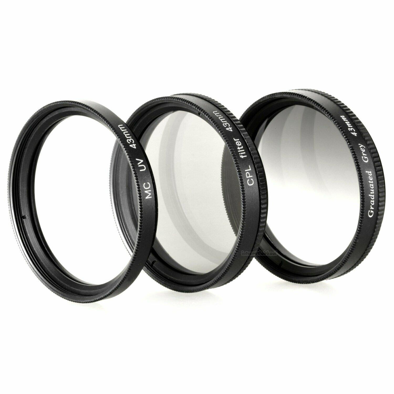 UV POL Grauverlaufsfilter passend für Samsung NX3300 NX3000 und 16-50mm Obj.