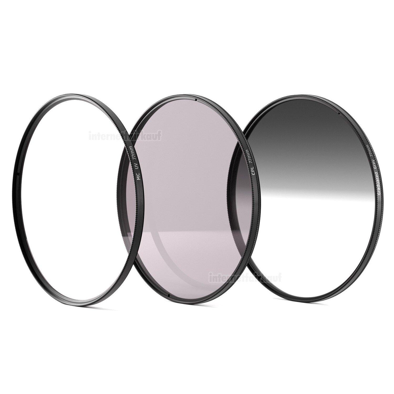Set UV + Polfilter + Grauverlaufsfilter passend für Nikon Coolpix P1000