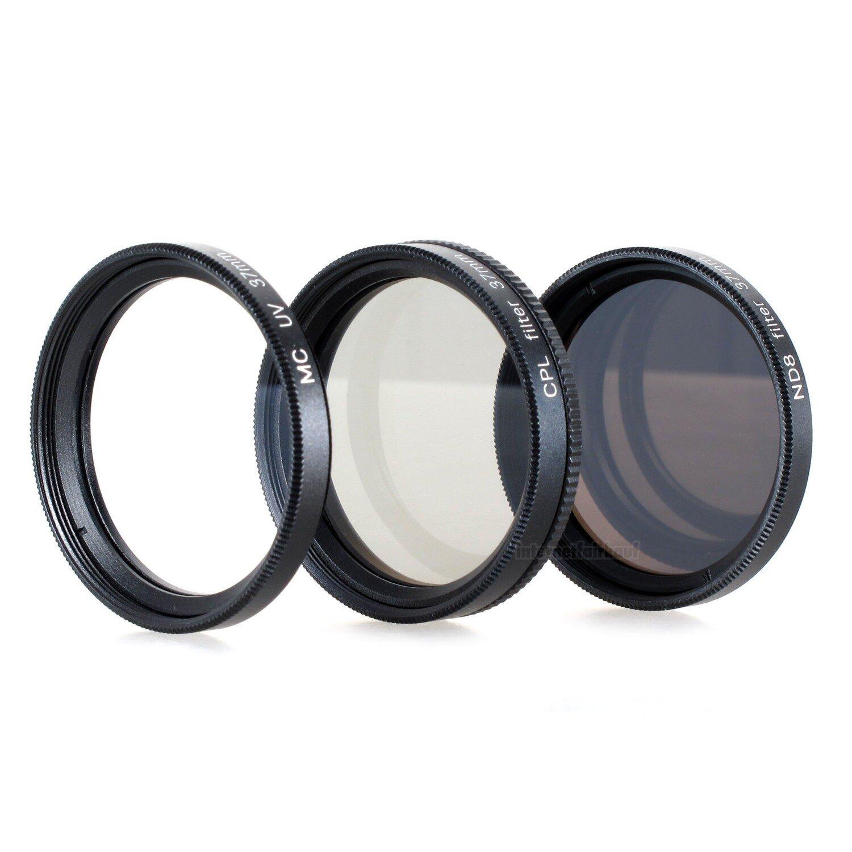 Set UV + CPL + ND8 Filter passend für JVC GZ-R435 und JVC GZ-RX645