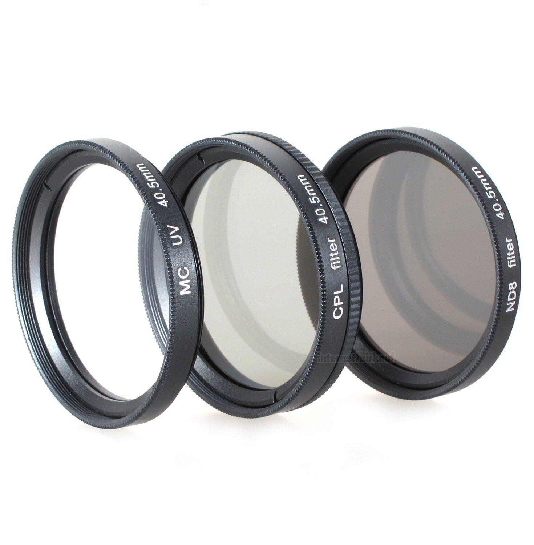 Set UV + CPL + ND8 Filter passend für Sony Alpha A6100 A6400 A6600 und 16-50mm Objektiv