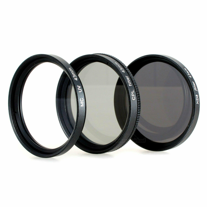 Set UV Pol ND8 Graufilter passend für Samsung NX3300 NX3000 und 16-50mm Obj.