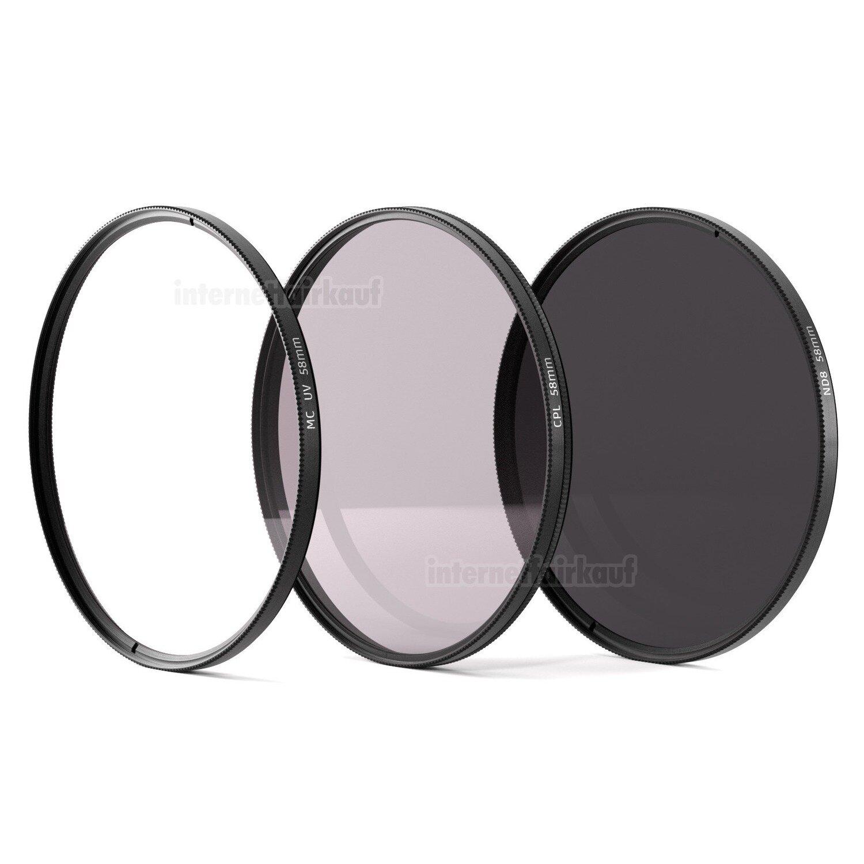 UV + Pol + ND8 Filter 58mm