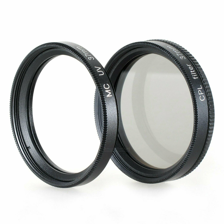 UV + Pol-Filter passend für Panasonic Lumix GX80 mit 12-32mm Objektiv