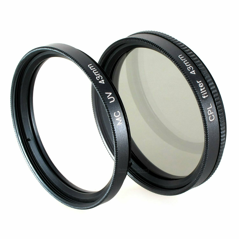 Set UV + Pol-Filter passend für Canon Legria HF R706 HF R76