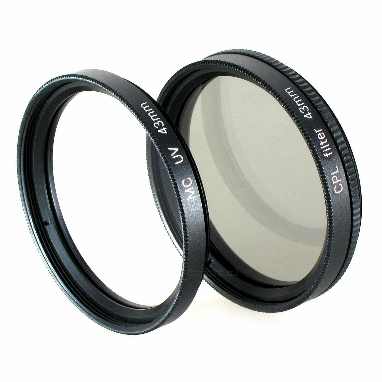 Set UV + Pol-Filter passend für Canon Legria HF R87 HF R86