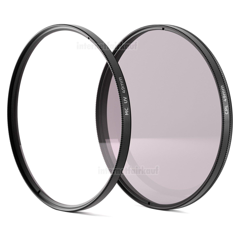 Set UV + Pol-Filter passend für Canon EOS M5 M6 M50 mit 15-45mm Objektiv