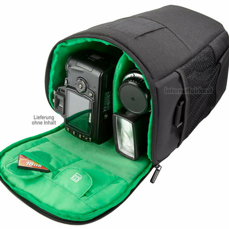 Kameratasche Fototasche passend für Nikon D5600 und 18-140mm / 18-105mm Objektiv
