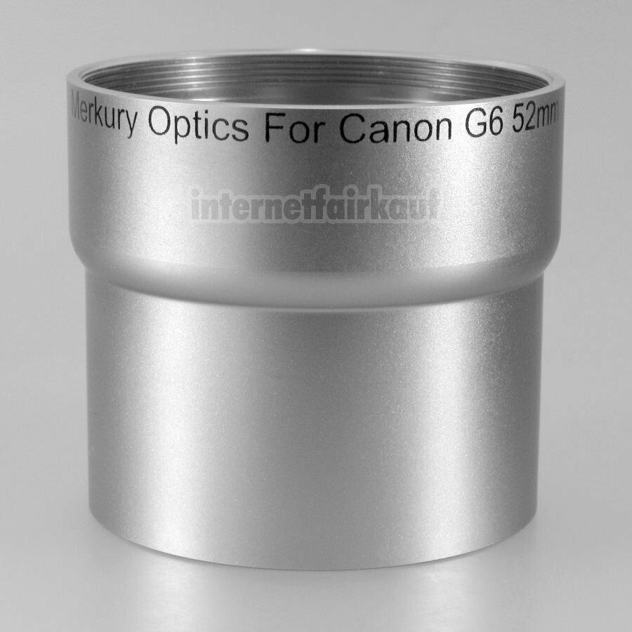 Adapter Tubus für Canon Powershot G6, 52mm