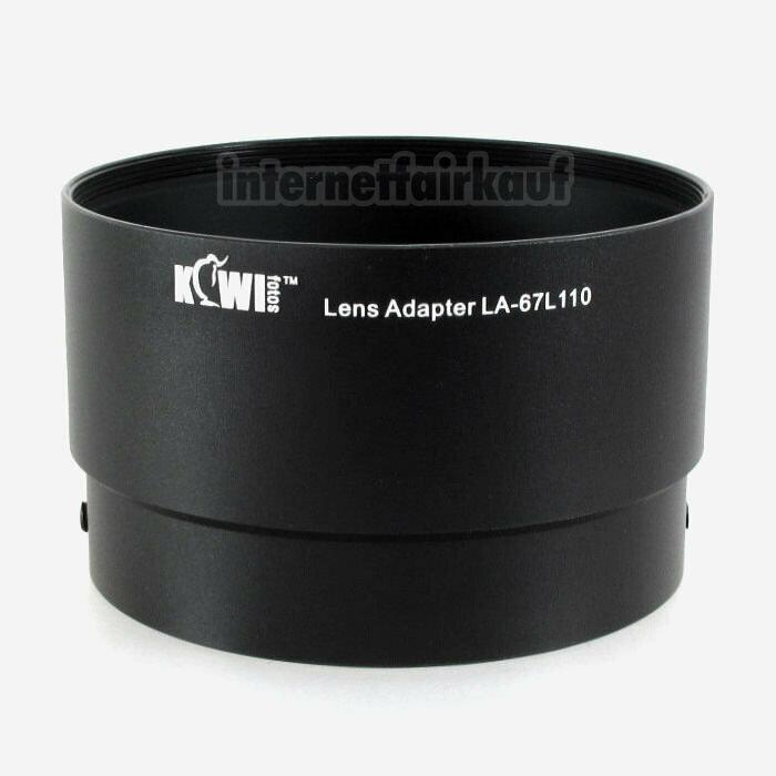 Kiwifotos LA-67L110 - Adapter Tubus für Nikon Coolpix L110
