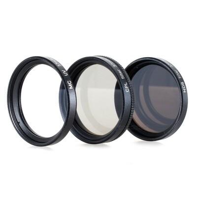 UV + Pol + ND8 Filter 37mm, schwarz