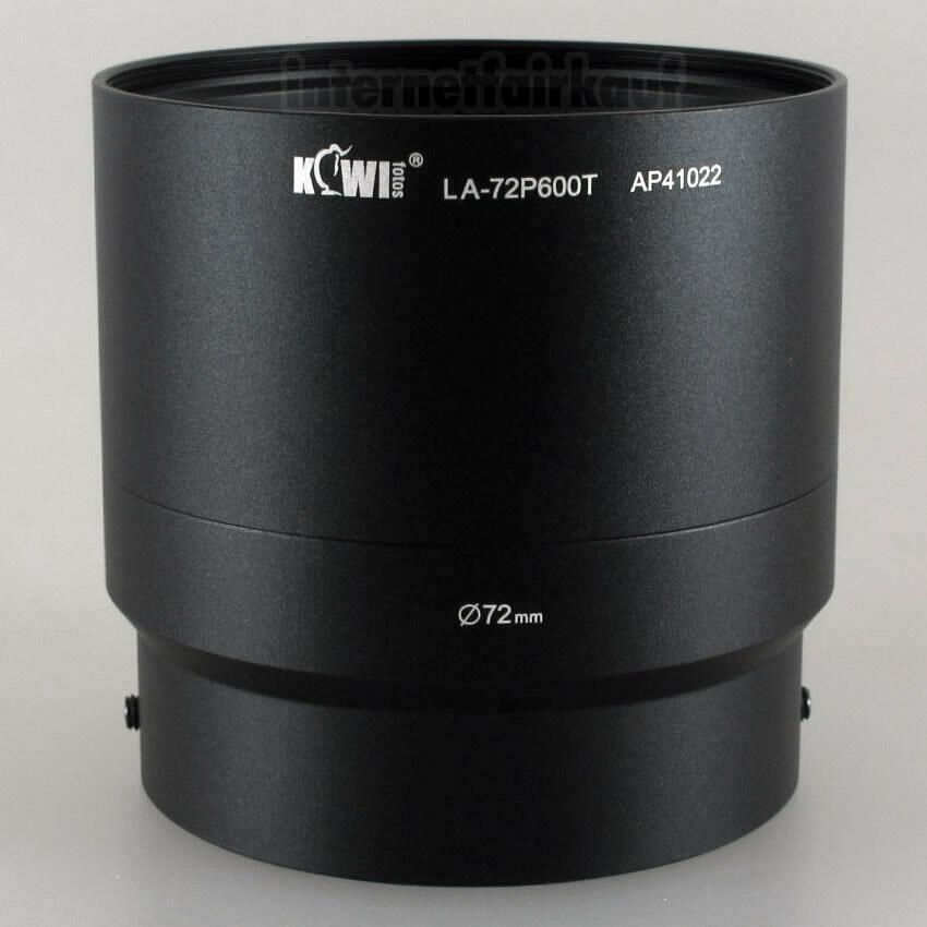 Kiwifotos LA-72P600T - Adapter Tubus für Nikon Coolpix P610 P600 B700